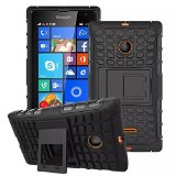 Lumia 435 Case, iCoverCase Heavy Duty Armor Hybrid [Dual Layer] Stand Back Holster Cover Case for Microsoft Nokia Lumia 435 (Black)