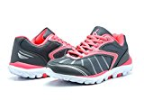 KINETIC 149002 Women's Comfortable Lace Up Light Weight Running Athletic Training Sneaker Shoes Grey-Coral Size 6