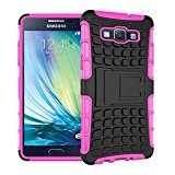 Galaxy A5 2015 Case,XYX [Kickstand] Hot Pink Armor Case [2 in 1 Rugged Hybrid] Hard/Soft Drop Impact Resistant Protective Case with Kickstand for Samsung Galaxy A5 2015 - Hot Pink
