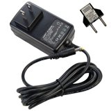 HQRP 12V AC Adapter for PLEO Childs Dinosaur Toy Power Supply Cord Adaptor Charger + Euro Plug Adapter