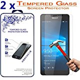 2x Glass Screen Protector For Microsoft Lumia 950 [2 Pack] Ballistic Tempered Glass Screen Protector (For Microsoft Lumia 950)