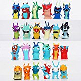 24pcs Lot Cute Cartoon Slugterra Elemental Slugs Toy Slug Terra PVC Action Figure Model Toys Doll Gift Kids Boys