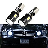Xotic Tech 2PCS Error Free CREE Xenon White BAX9S 2-B BA9 64132 H6W 4-SMD LED For European Cars Parking Position Light Bulbs