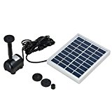 uxcell 2W Outdoor Solar Fountain Pump Waterfall for Pool Garden Pond Bird Bath Decorative Submersible Kit Water Pump