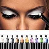 Eyeshadow Pencil, Bestpriceam Big Smokey Eyes Shimmer Eye Shadow Stick Jumbo Eye Shadow Eye Liner Pencil (White)