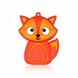 Cute Cartoon Animal Fox 32GB USB 2.0 Flash Drive Data Memory Stick Device Pendrive U Disk
