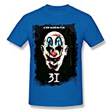 Classic-Mens Rob Zombie 31 Clown Tees Shirt.