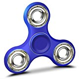 GongFu Star Fidget Spinner Toy Time Killer Perfect to relieve ADHD Anxiety Reduce Stress Helps Focus (Blue)