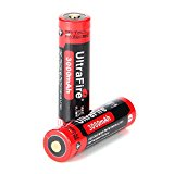 18650 Battery 3.7V 3000mAh Performance Li-ion Protected Rechargeable Batteries 2 Packs