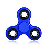 High Grade Fidget Spinner Equpped with Stainless Steel Bearing - High Grade Stress Relief Fidget Toy (Blue)