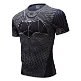 COOL Men's Compression Fitness Tee,Casual Bat Men Quick-dry Sports Shirt L