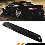 FIT FOR 1989-1994 NISSAN 240SX S13 SILVIA 2DR COUPE BLACK REAR WINDOW ROOF VISOR SPOILER