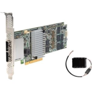 Intel Sonoma Beach 8-External Channel RAID Controller, 1GB MFBU offload cache module, Cache Offload Module Cable, Quick Start User Guide, 1 standard  1 Low Profile bracket. No SAS Cables are included.