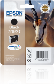 EPSON T0921 BLACK INK CARTRIDGE
