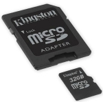 Kingston SDC4/32GB class4 - 4mb/sec - 32Gb micro SDHC with SD ad