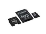 Kingston SDC4/8G , class4 - 4mb/sec - 8Gb miCro SDHC with SD ada