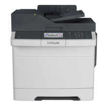 Lexmark CX410e 4in1 A4 Colour MFP Functions: Colour Scanning Colour Copying Colour Faxing Colour Printing Colour Laser Lexmark eTask 10.9 cm (4.3inch) Colour touch screen  Processor: Dual Core 800 MHz  Direct USB: Yes  Print Speed A4 black: 30 ppm  Time f