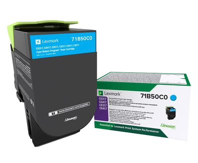 LEXMARK CYAN STD TONER YIELD 2,300 PAGES
