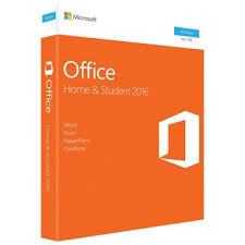 MS OFFICE HOME AND STUDENT 2016 NP  BOX NO MEDIA