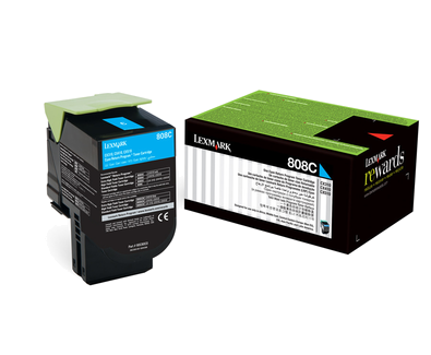 LEX808C CYAN RETURN PROGRAM TONER CARTRIDGE