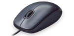 LOGITECH M100 CORDED OPTICAL MOUSE DARK GREY