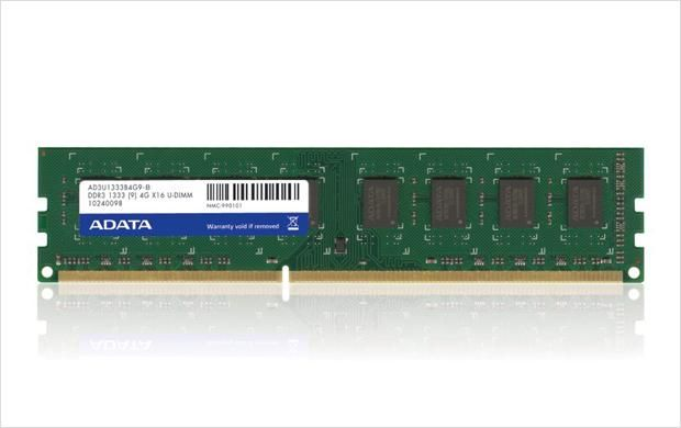 ADATA 8GB DDR3 1333 DIMM SINGLE TRAY