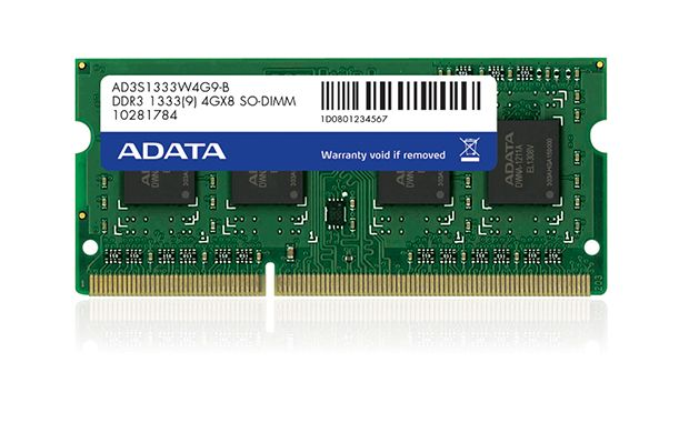 ADATA 4GB DDR3 1333 SODIMM SINGLE TRAY