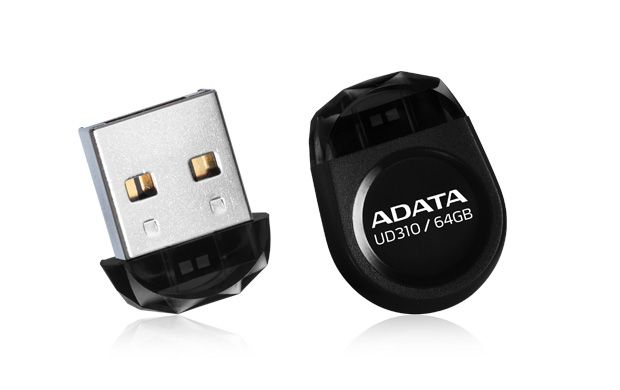 ADATA UD310 8GB FLASH DRIVE BLACK USB2.0  NANO
