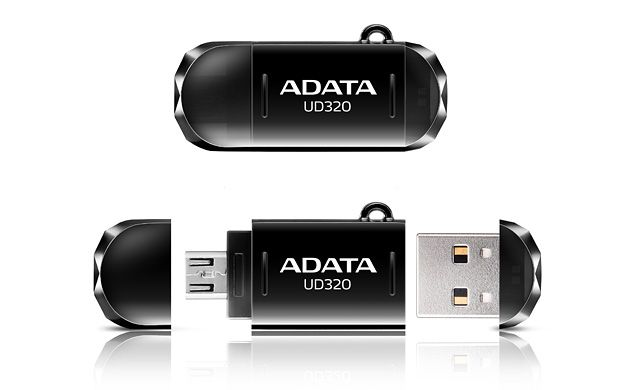 ADATA UD320 16GB FLASH DRIVE BLACK USB2.0  OTG