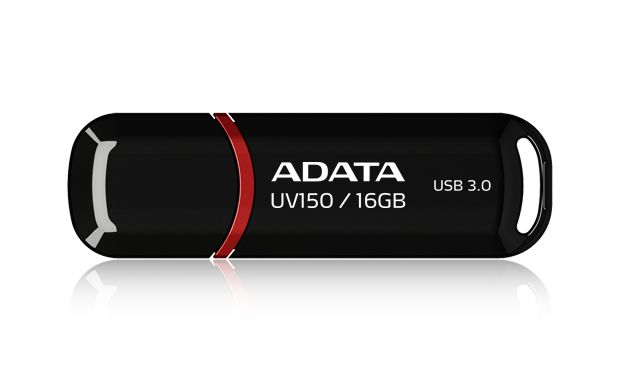 ADATA UV150 16GB FLASH DRIVE USB3.0 BLACK RED