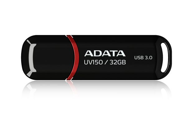 ADATA UV150 32GB FLASHDRIVE BLACK/RD USB3.0