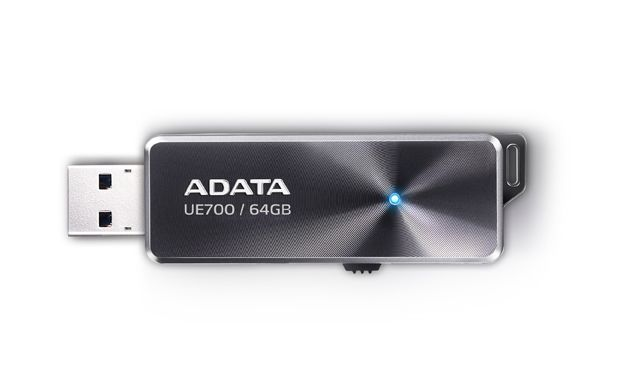 ADATA UE700 64GB FLASH DRIVE BLACK USB3.0  ELITE