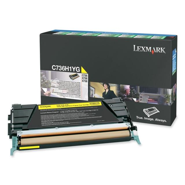 LEXMARK C736 / X736 / X738 YELLOW HIGH YIELD RETUR