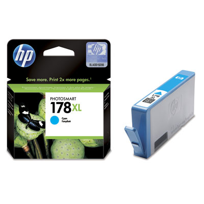 HP  178XL CYAN INK CARTRIDGE WITH VIVERA INK