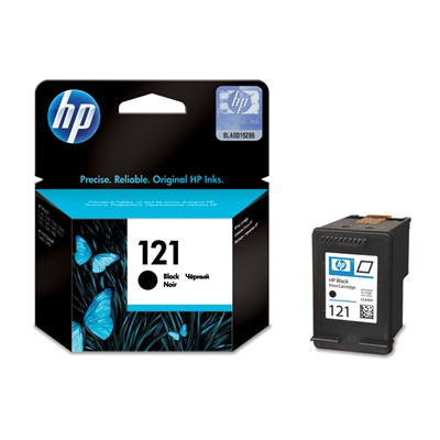 HP 121 Black Ink Cartridge with Vivera Ink 200p/5