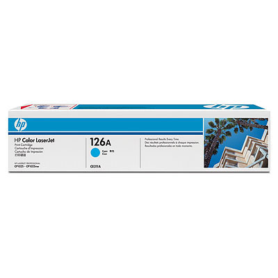 HP 126A CYAN LASERJET PRINT CARTRIDGE FOR CP1025 1