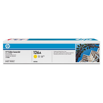 HP 126A YELLOW LASERJET PRINT CARTRIDGE FOR CP1025