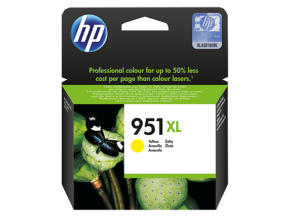 HP  951XL YELLOW OFFICEJET INK CARTRIDGE