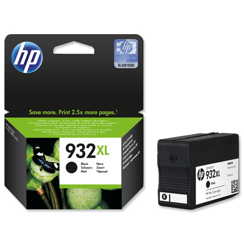 HP  932XL BLACK OFFICEJET INK CARTRIDGE  NEW