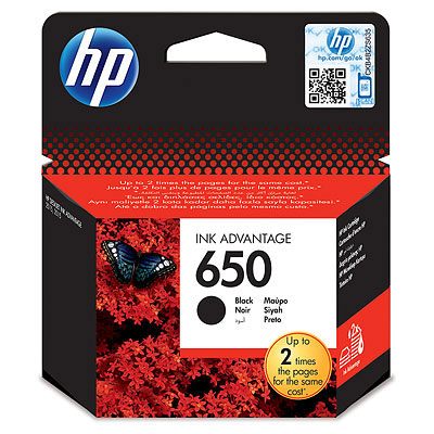 HP  650 BLACK INK CARTRIDGE