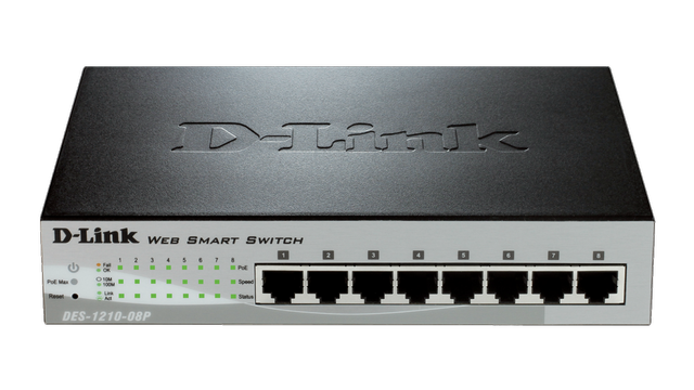 DLINK/NET/8 X 10/100MBPS/SWITCH/WITH POE /L2