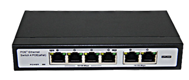 4Port 10/100Mbps PoE Switch