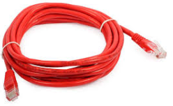 KRONE CAT6 UTP PATCH CORD RED 1MT MOULDED