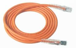 KRONE CAT6 UTP PATCH CORD ORANGE 1MT MOULDED