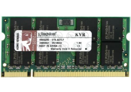 KINGSTON 2GB 800MHZ DDR2 NONECC SODIMM