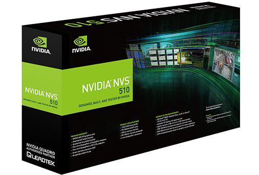 Leadtek nVidia NVS510 PCIe x1 Multiview Workstation GPU