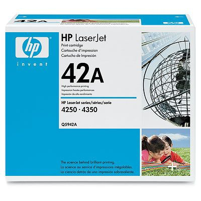 HP  42A LASERJET 4250/4350/4240 BLACK PRINT CARTRIDGE.