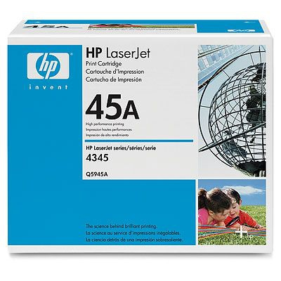 HP  45A LASERJET 4345 MFP BLACK PRINT CARTRIDGE.