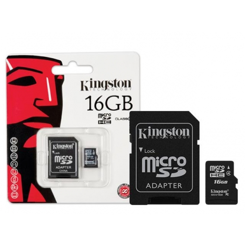 KINGSTON 16GB MICROSDHC CLASS 4SD ADAPTER