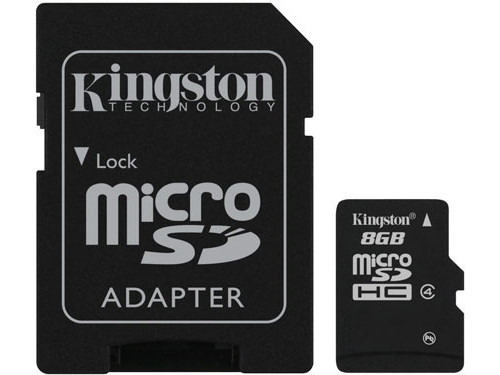 KINGSTON 8GB MICROSDHC CLASS 4SD ADAPTER